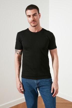 TRENDYOL MAN Çok Renkli Erkek Basic Slim Fit 3'lü Paket T-Shirt  TMNSS19BO0007 2