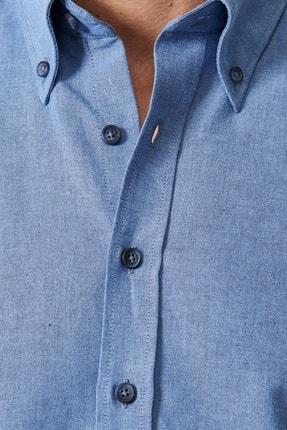 Altınyıldız Classics Erkek K.MAVI Düğmeli Yaka Tailored Slim Fit Oxford Gömlek 1