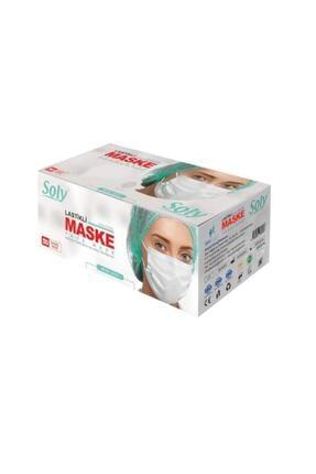 Soly Care Meltblown 3 Katlı Full Ultrasonic Telli Maske Beyaz 50 Adet 0