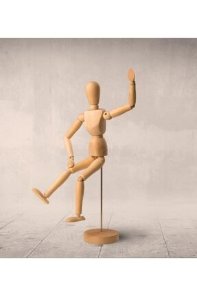 Hormiga 2li Ahşap Insan Figürlü Hareketli Kukla Model Manken Resim Ressam Eğitimi Tahta Adam Seti 2