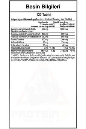 Hardline Burner 120 Tablet - Aromasız 1