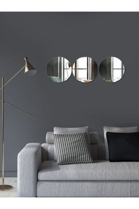 Decovetro Ayna | 3 Parça Yuvarlak Dekoratif Duvar Aynası 2