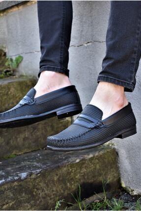 ALBİDÜNYA Erkek Siyah Tabanlı Baskı Detay Modelli Günlük Ayakkabı 2