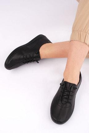 Marjin Kadın Siyah Hakiki Deri Günlük Comfort Ayakkabı Edor 2