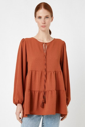 Koton Kadın Kiremit Bluz 1KAK68734CW 2