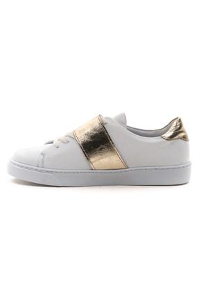 GRADA Kadın Beyaz Hakiki Deri Önden Tek Bantlı Sneaker Ayakkabı 3