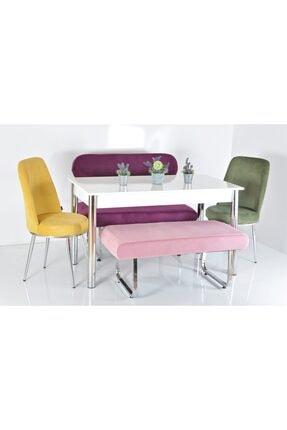 Kaktüs Avm 6 Kişilik Banklı Masa Sandalye Takımı 0