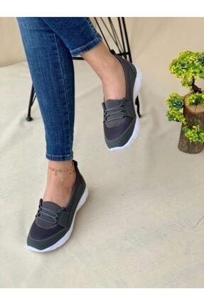 AYŞEM Kadın Gri Ortopedik Günlük Ayakkabı 1
