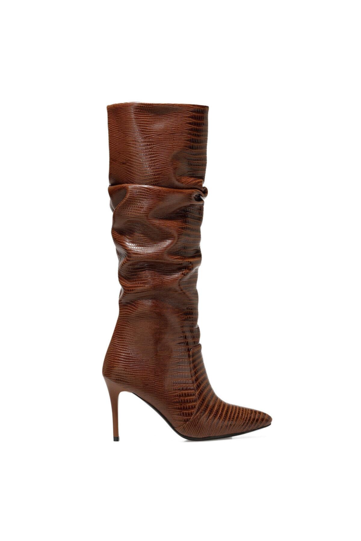 SISSO Taba Kadın Ökçeli Çizme 100582116