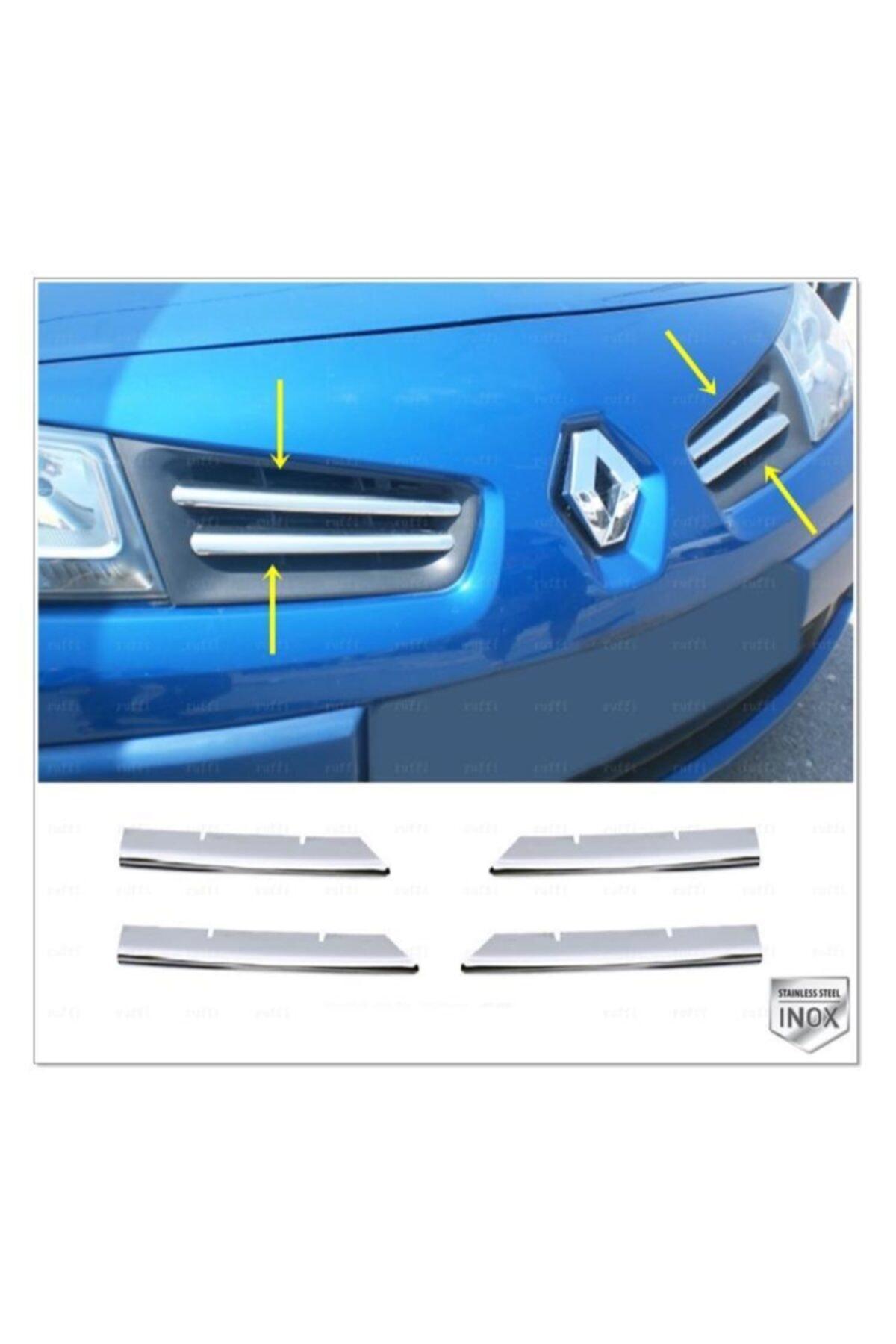 Renault Megane 2 Krom Ön Panjur 4 Prç. 2004-2010 Arası P.çelik