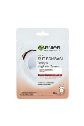 Garnier Süt Bombası Besleyici Kağıt Yüz Maskesi Hindistan Cevizi 1