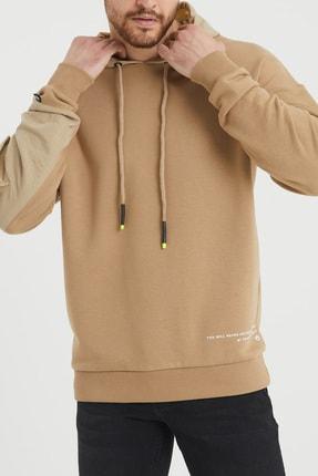 XHAN Bej Cep Detaylı Sweatshirt 1kxe8-44396-25 2