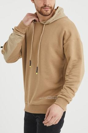 XHAN Bej Cep Detaylı Sweatshirt 1kxe8-44396-25 3