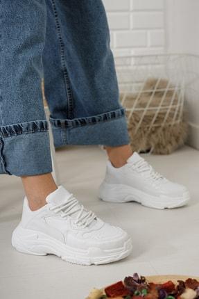 Moda Değirmeni Kadın Beyaz Sneaker Md1055-101-0001 0