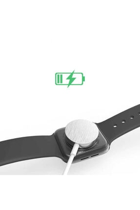 Zore Apple Watch Seri 1/2/3/4/5/6 Manyetik Usb Şarj Kablosu Aleti Hızlı Şarj 4