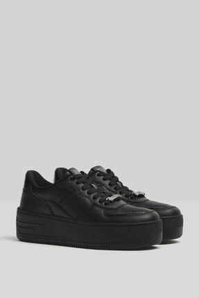 Bershka Taşlı Platform Spor Ayakkabı 0