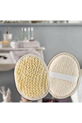 GeçerStore Beyaz Oval  Tutma Lastikli Yüz Vücut Temizleme Peeling Lifi 1