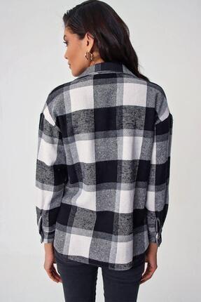 Pattaya Kadın Ekoseli Cepli Oduncu Gömlek Y20w110-4583 3
