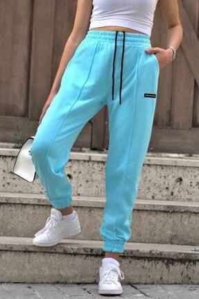 Madmext Kadın Neon Mavi Mad Girls Jogger Eşofman Altı Mg303 1