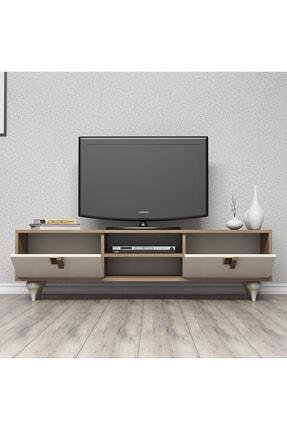 Cool Home Milas 150 Cm Ceviz-beyaz Tv Ünitesi 1