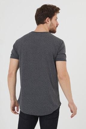 Tarz Cool Erkek Füme Pis Yaka Salaş T-shirt-tcps001r27 3