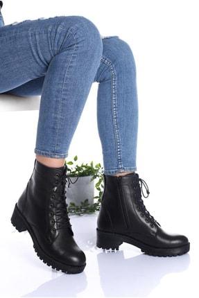 DAY'S Ayakkabı Kadın  Siyah Hakiki Deri Postal Bot 0