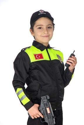 Liyavera Unisex Çocuk Trafik Polisi Kostümü 3