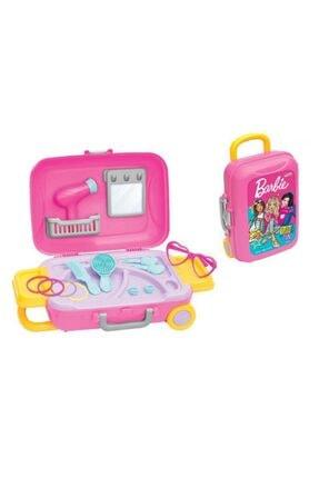 DEDE Barbie Oyuncak Güzellik Set Bavulum+Sürülebilir Çocuk Çilek Makyaj Seti 1