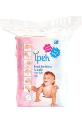 İpek Maxi Bebek Temizleme Pamuğu 60 Lı 24 Paket 0