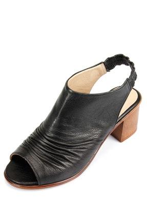 GÖNDERİ(R) Kadın Siyah Hakiki Deri Sandalet 45619 3