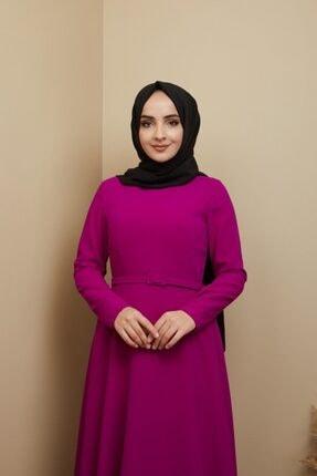 Bağaç Moda Kadın Pembe Çan Elbise 0