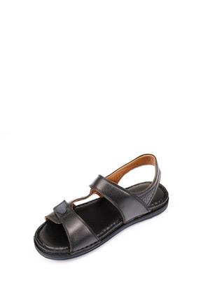 GÖNDERİ(R) Erkek Siyah Hakiki Deri Sandalet 42023 4