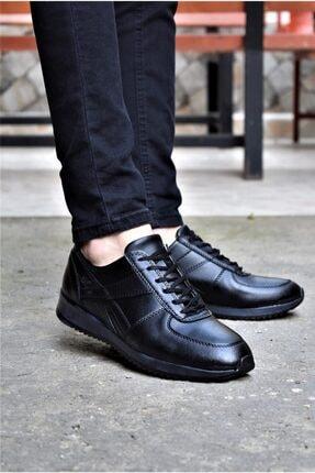 ALBİDÜNYA Erkek Siyah Günlük Spor Ayakkabı 1