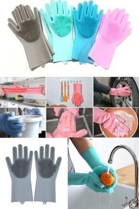 İndirimKap Magic Gloves Sihirli Bulaşık Eldiveni Mutfak Banyo Temizleme Fırçası Oto Ev Iş Pratik 0