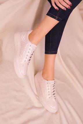 Soho Exclusive Bej Rugan Kadın Sneaker 15734 0