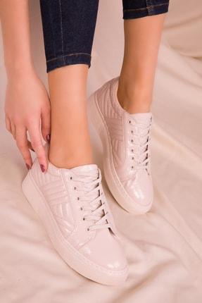 Soho Exclusive Bej Rugan Kadın Sneaker 15734 1