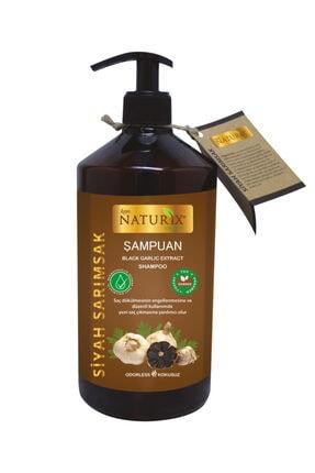 Naturix Kokusuz Tuzsuz Siyah Sarımsak Şampuanı 600 ml Sarımsak Özlü Şampuan ( Paraben Fosfat Tuz Içermez ) 0