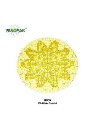 Rulopak Mini Lavabo- Pisuvar Süzgeci Koku Giderici 10 Adet Limon 0