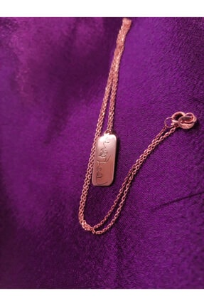 Ineffable Jewerly Silüet Kolye Rose Gold Kaplama 925 Ayar Gümüş Kolye 1