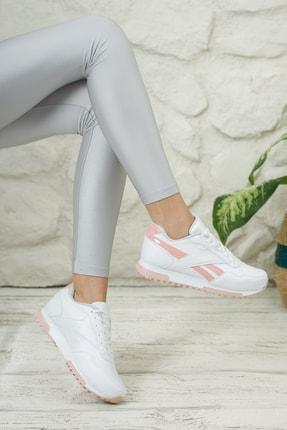 Moda Değirmeni Unisex Beyaz Pudra Sneaker Ayakkabı Md1053-101-0001 2