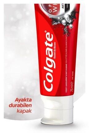 Colgate Optic White Aktif Kömür Yumuşak Mineral Temizliği Beyazlatıcı Diş Macunu 4 X 75 Ml 3