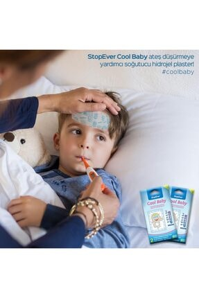 StopEver Cool Baby Ateş Düşürmeye Yardımcı Soğutucu Hidrojel Plaster - 1 Adet 4