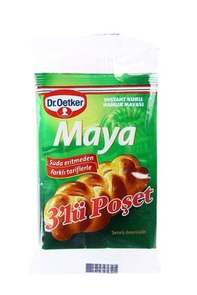 Dr. Oetker Kuru Maya 10 gr 3'lü Paket 0