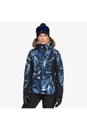 Roxy Kadın Mavi Jet Ski Premium Kayak Ve Snowboard Montu 0