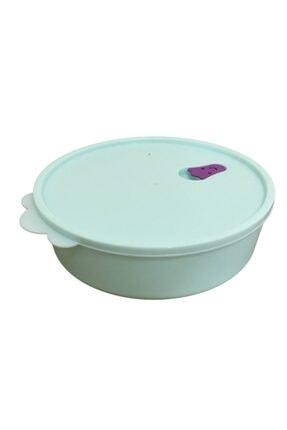 Yourhome 2 Adet 1500ml Kapaklı Yuvarlak Gıda Yemek Saklama Kabı Isıya Dayanıklı Mikrodalgada'da Kullanılır. 4