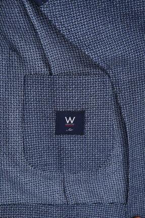 W Collection Erkek Lacivert Balık Sırtı Air Ceket 2