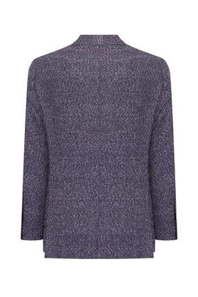 W Collection Erkek Gri Bordo Bukle Blazer Ceket 1
