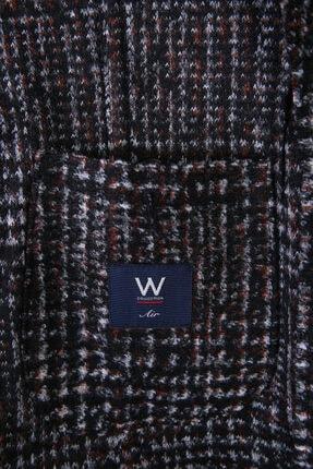 W Collection Erkek Siyah Beyaz Kırmızı Jakarlı Blazer Ceket 2