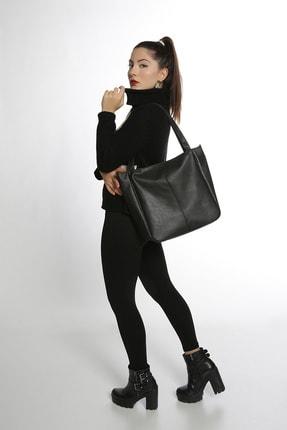 Etka Çanta Kadın Siyah Soft Salaş Omuz Çantası 1