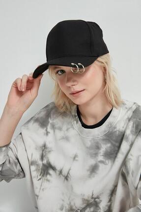 Y-London 13263 Siyah Piercingli Şapka 1